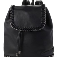 Chunky Chain Flap Backpack
