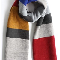Color Block Oversized Scarf