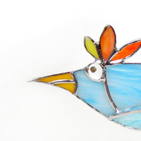 Fabio the 3D Stained Glass StandUp Bird by FleetingStillness