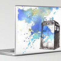 Doctor Who Tardis Laptop &amp; iPad Skin by Idillard | Society6