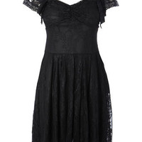 Lace flared dress