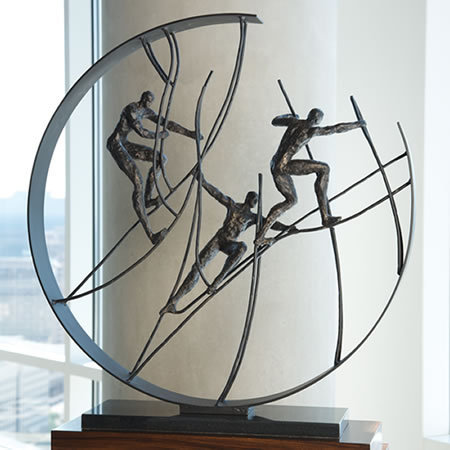 Climbing to the Top, Abstract-Contemporary-Figures-Sculptures-Statues, 8.81178 - AllSculptures.com