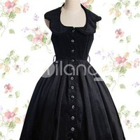 Black Cotton Gothic Lolita Dress - Milanoo.com
