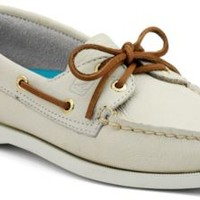 Sperry Top-Sider Authentic Original 2-Eye Boat Shoe IvoryLeather, Size 6W  Women's Shoes