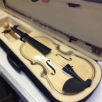 BRAND NEW Full size MAPLEWOOD & SPRUCE 4/4 VIOLIN / FIDDLE with NICE CASE & BOW