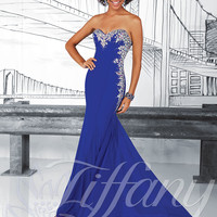 Strapless Sweetheart Formal Prom Dress Tiffany Designs 16017