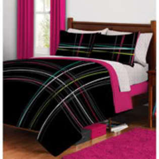 Plaid Bed in a Bag Bedding Set QUEEN- morgan teen-Bed & Bath-Decorative Bedding-Comforters & Sets