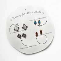 Free People Womens Meaningful Stone Stud Set - Assorted One