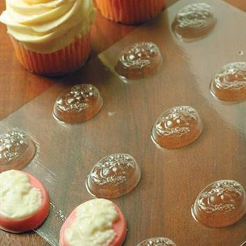 CUPCAKE CAMEOS CHOCOLATE MOLDS (PAIR)