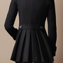 BACK PLEAT MILITARY COAT