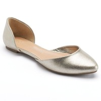 LC Lauren Conrad Women's Two-Piece Pointed-Toe Flats