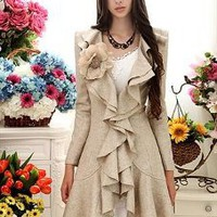 New In Lady Ruffles Autumn Coat