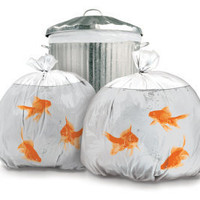 Pet Goldfish Bin Bags x 2 - Christmas Novelty Stocking Filler
