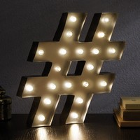 Apothecary ''Number Sign'' LED Marquee Sign Decor