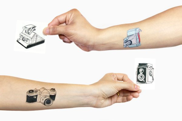 The Tattly Camera Tattoo Set
