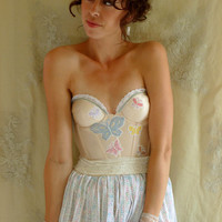 Flutter Bustier Dress... size S/M... Eco Friendly Recycled Corset Butterfly