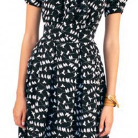 Flock Dress - Artsycloset