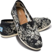 Gabriel Lacktman Hand-Bleached Damask Black Women&#x27;s Classics