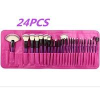 Professional 22 Pcs Pink Makeup Cosmetic Set Eyeshadow Powder make up Brush with cute Bag