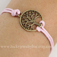 Bracelet-antique silver tree bracelet, wish tree bracelet