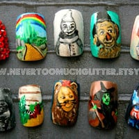 Japanese Nail Art- Wizard of Oz (Custom) Press On Nails