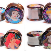 Disney Princess Plugs - Snow White, Ariel, Sleeping Beauty, &amp; Belle