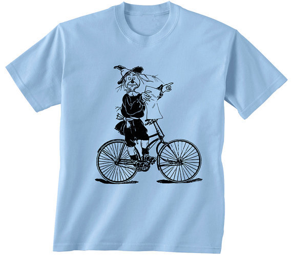 Wizard of Oz bike t-shirt ---The Scarecrow ---ALL sizes
