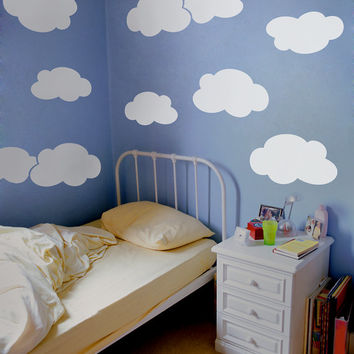 Clouds wall decal nursery child room wall decal