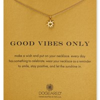 Dogeared Good Vibes Only Necklace, 18"