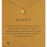 Dogeared Happy Buddha Pendant Necklace, 18"
