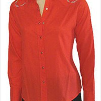Panhandle Slim Cherry Rockabilly Blouse