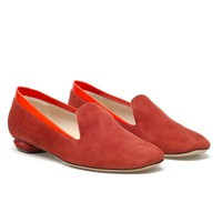 Browns fashion & designer clothes & clothing | NICHOLAS KIRKWOOD | Suede slippers with patent trim