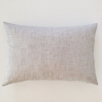 Outdoor cushion - embossed cement grey designer lumbar cushion cover - FREE SHIPPING Australia wide