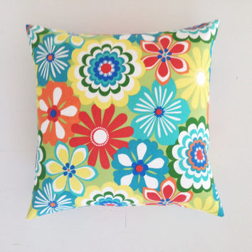 Outdoor cushion - bright summer flowers designer cushion cover 50 x 50 cm - FREE SHIPPING Australia wide