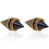 Eddie Borgo Silver-Plated Sandstone Front Back Cone Earrings | Accessories | Liberty.co.uk