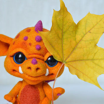 Needle felted little dragon Sunny