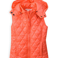 Coral Hooded Puffer Vest - Girls | Something special every day