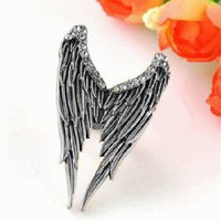 Angel&#x27;s Wing Adjustable Ring (Antique Bronze) | LilyFair Jewelry