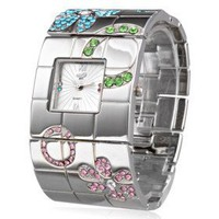 buy cheap Silver Fashion Steel Bangle Women's Watch wholesale on China Gadget Land