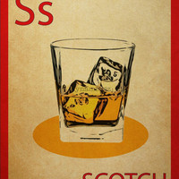 Scotch Vintage Flashcard Style Print