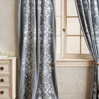 Copacati Curtain by Anthropologie Grey