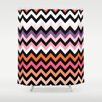 Chevron #16 Shower Curtain by Ornaart
