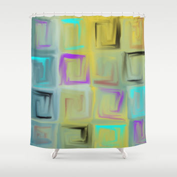 abstract 1002 Shower Curtain by Ramon Martinez Jr