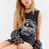 Converse Retro Open Muscle Tee- Charcoal