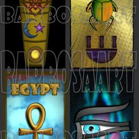 Egyptian Inspired Contemporary Jewelry Images by barbosaart on Zibbet