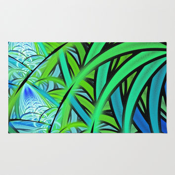 Jungle Waterfall Area & Throw Rug by Lyle Hatch