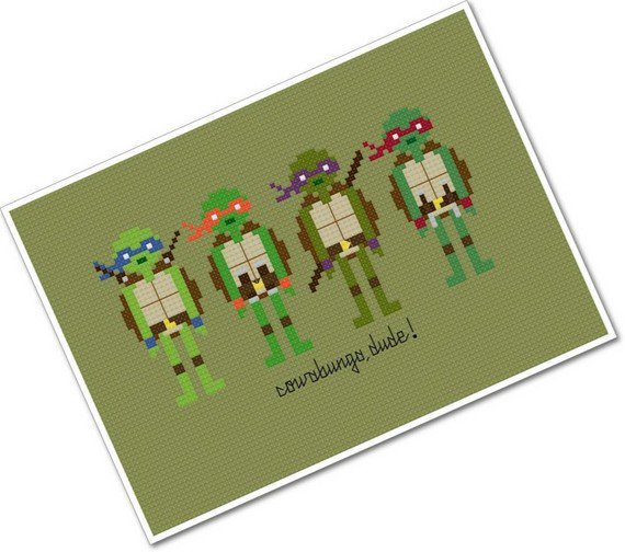 Pixel People - Teenage Mutant Ninja Turtles - PDF Cross Stitch Pattern