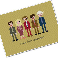Pixel People - Anchorman - The Legend of Ron Burgundy - Cross stitch PDF PATTERN
