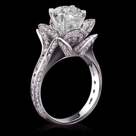 5 carat diamonds flower shape engagement by diamondsfromnewyork