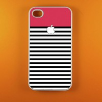 Iphone 4 Case - Pink White Striped .. on Luulla